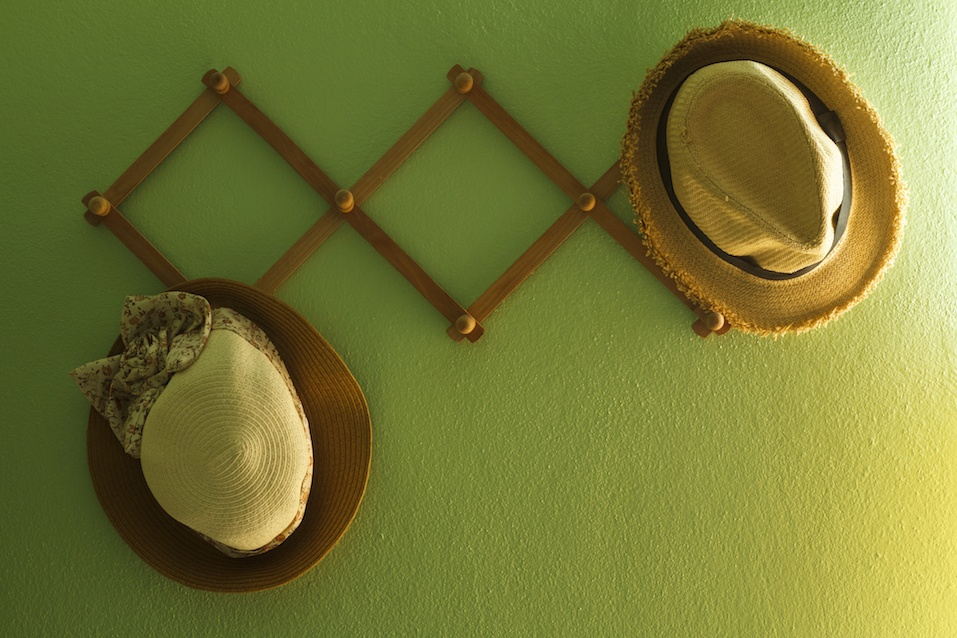 Ridiculously easy ways to create more space in your closet for Ways to hang hats on wall