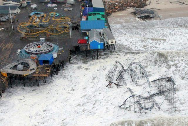 destroyed New Jersey pier