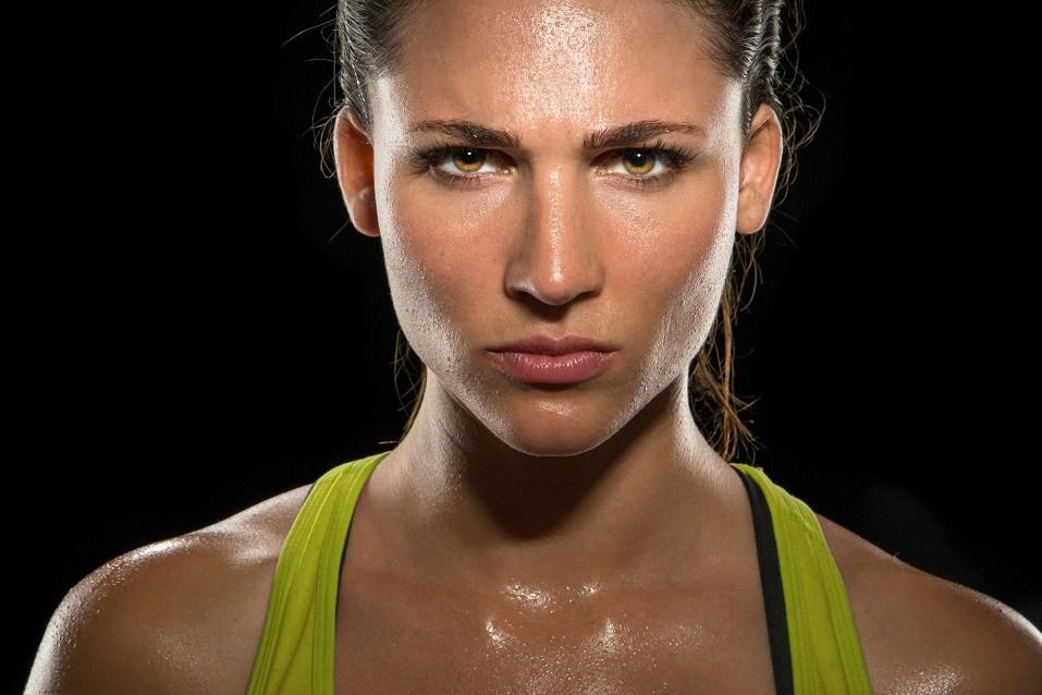female athlete trainer conceptual Boxer fighter