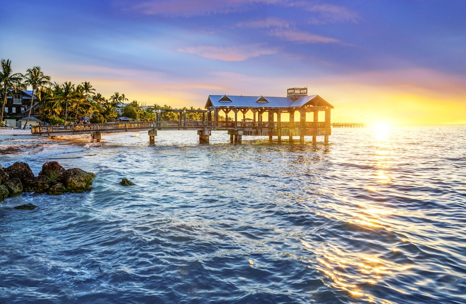 Pier at the beach in Key West