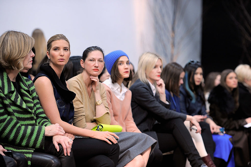 Ivanka Trump with crowd at fashion show