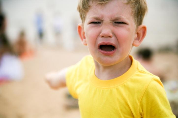 Little boy tantrum