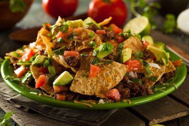 Loaded Beef and Cheese Nachos