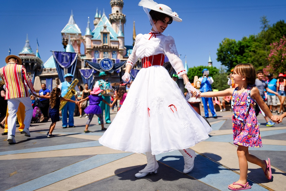 Mary Poppins dances at Disneyland