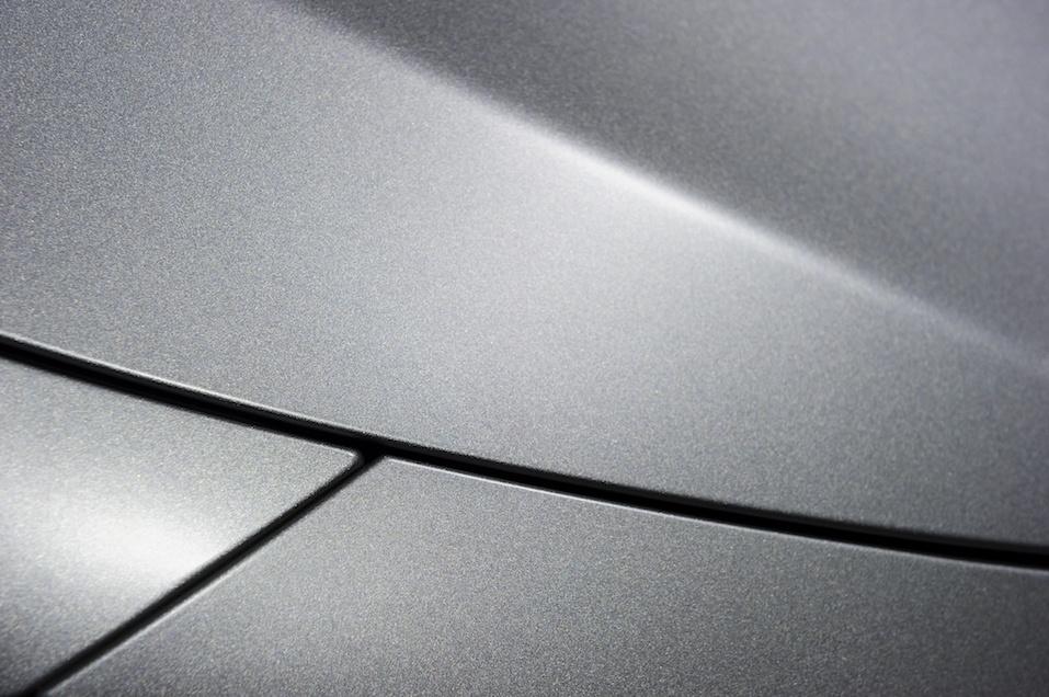 Metallic sedan bodywork