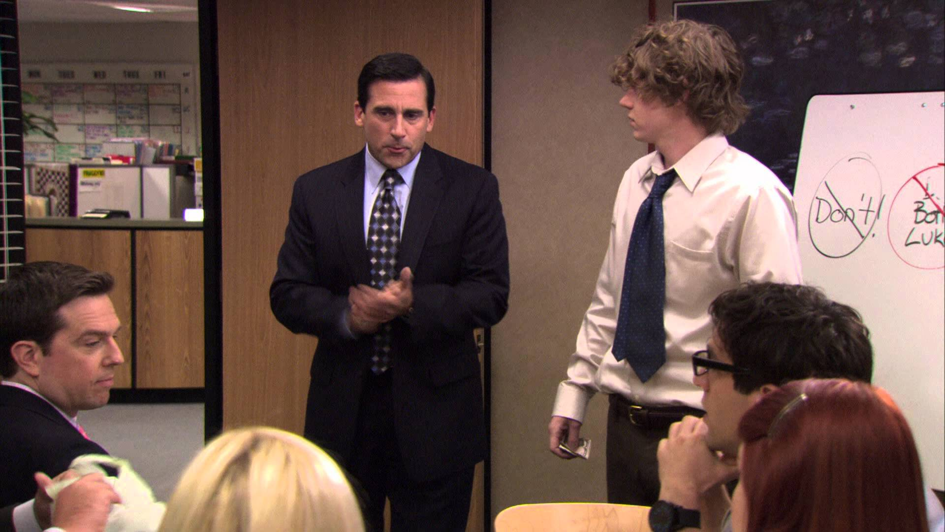 "Michael Scott introduces his nephew in ""The Office"""