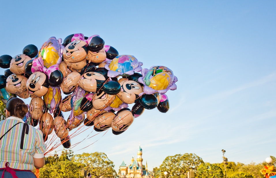 Mickey Mouse balloons in Disneyland