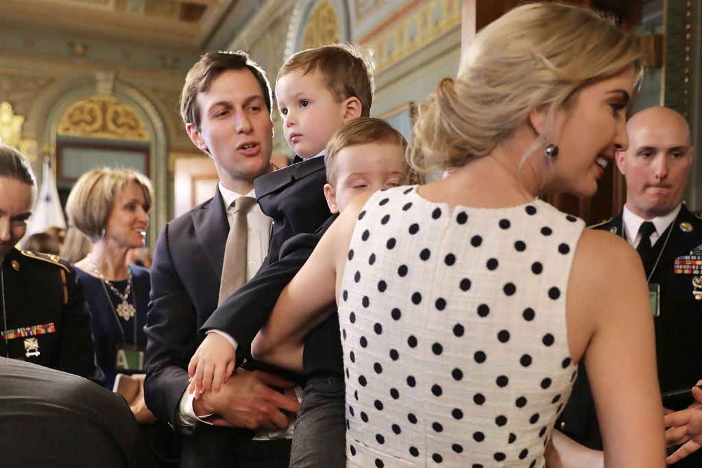 Jared Kushner, Ivanka Trump, and two of their children