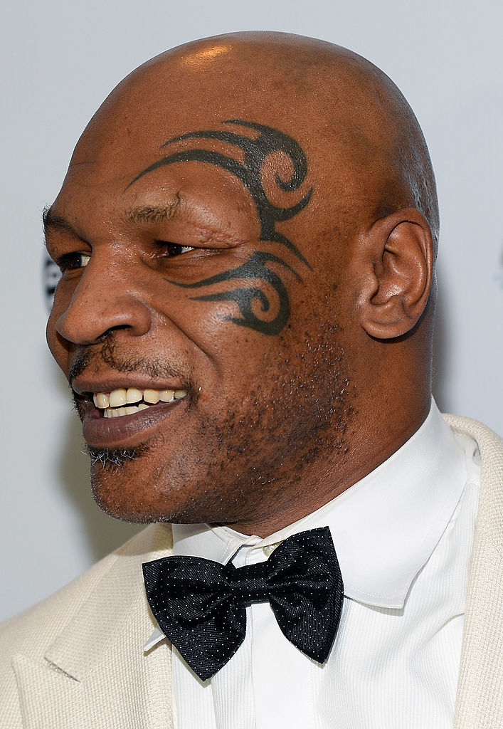 Former boxer and inductee Mike Tyson