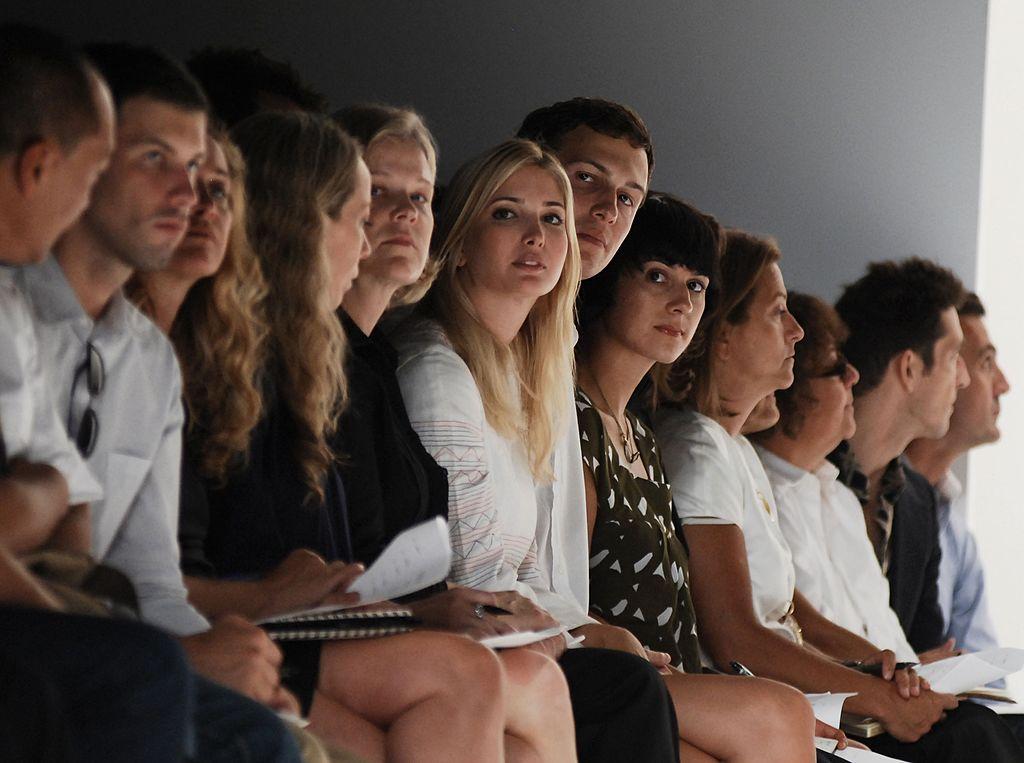 Ivanka Trump and Jared Kushner in seats at a fashion show