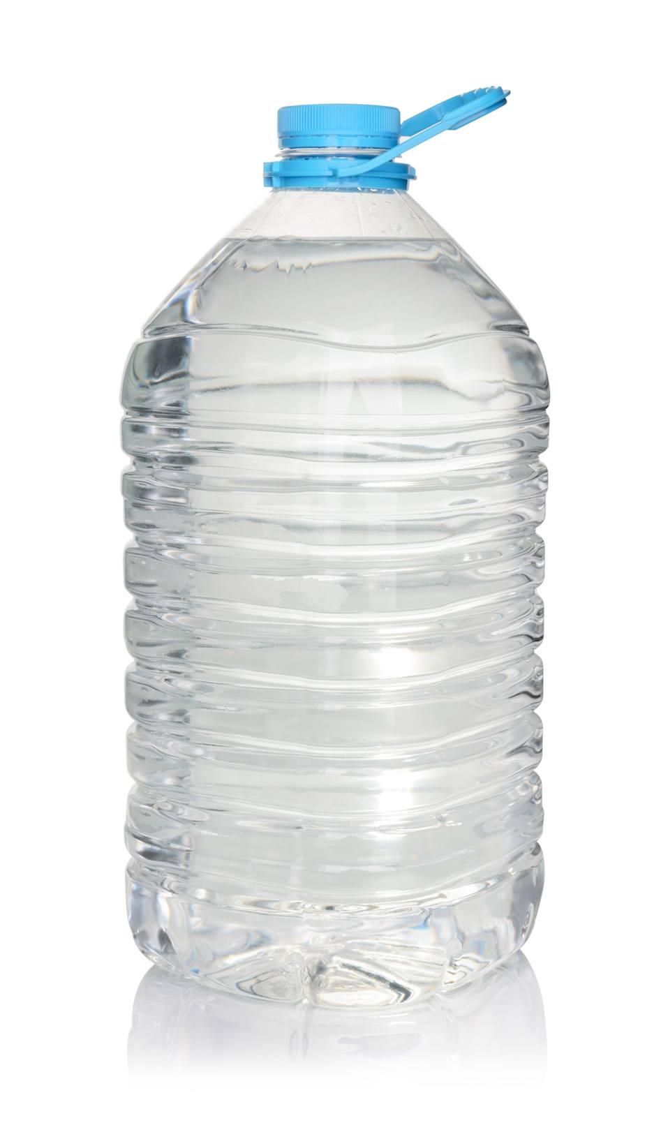 Plastic bottle of drinking water
