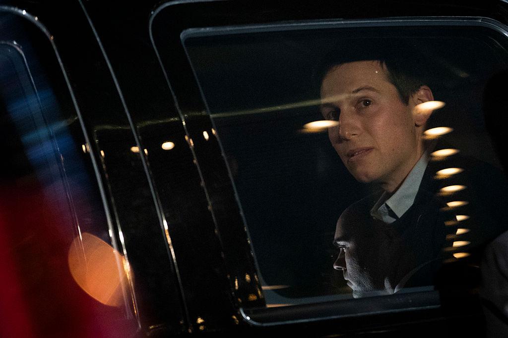 Jared Kushner in a car