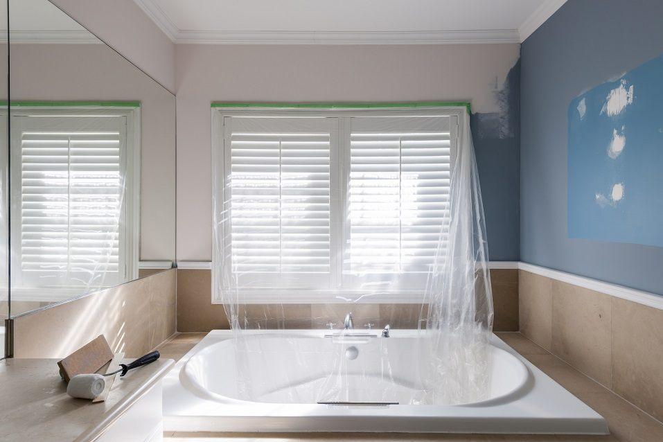 Home renovation of residential bathroom