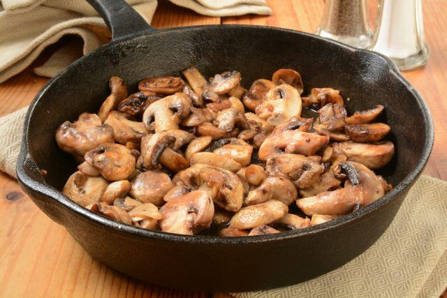 Sauteed sliced mushrooms