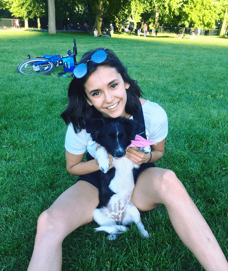 Nina Dobrev and her dog Maverick