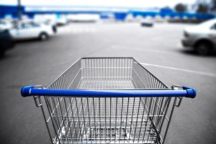 market cart and supermarket