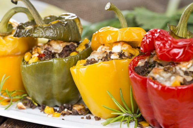 Grilled foods like peppers are healthy and full of flavor.