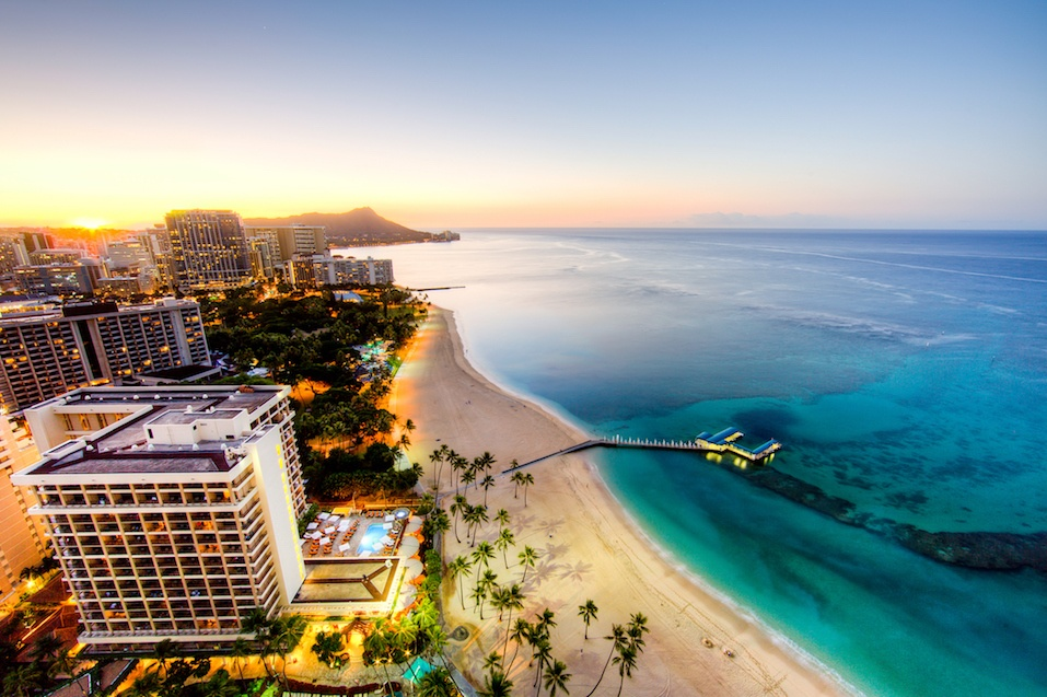 Sunrise at Waikiki Beach