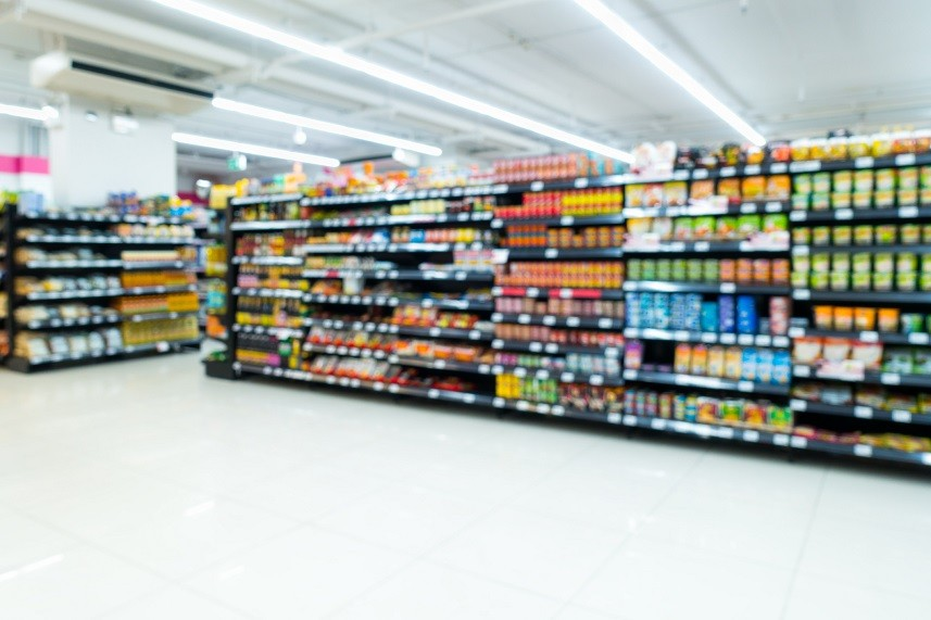 Supermarket goods shelf