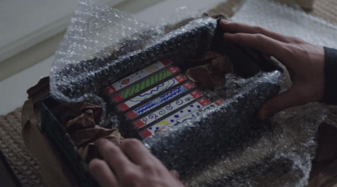 A box of cassette tapes in 13 Reasons Why