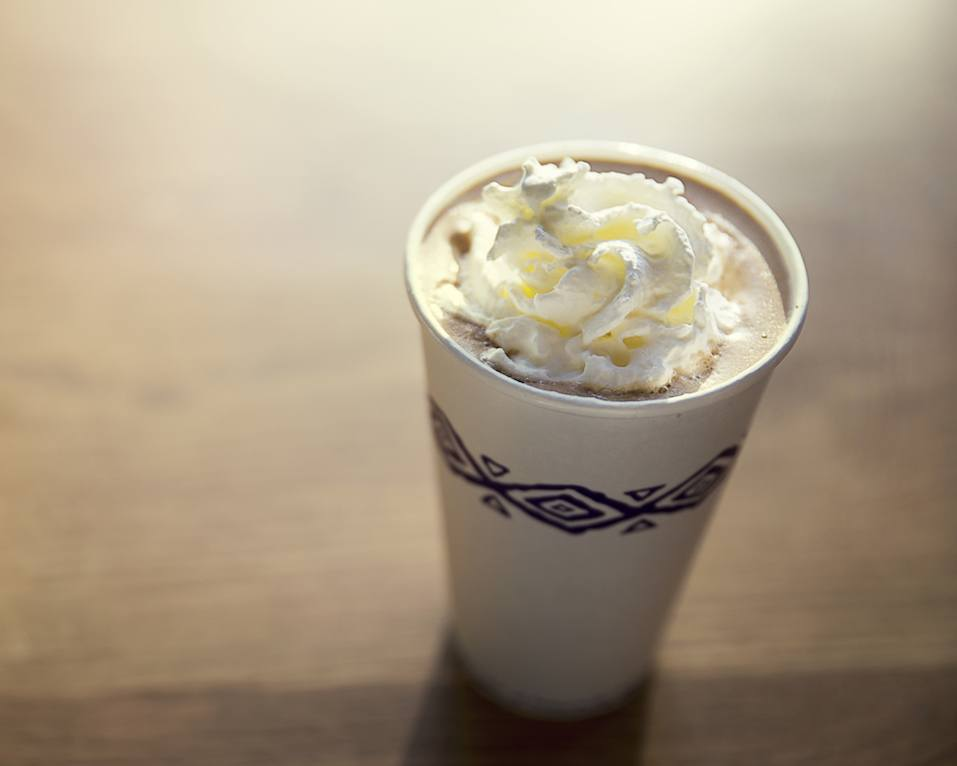 This cup of hot chocolate gives a sweetness tone of the morning