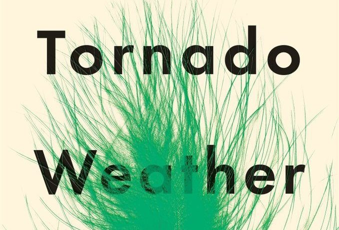 A green feather on the cover of Tornado Weather