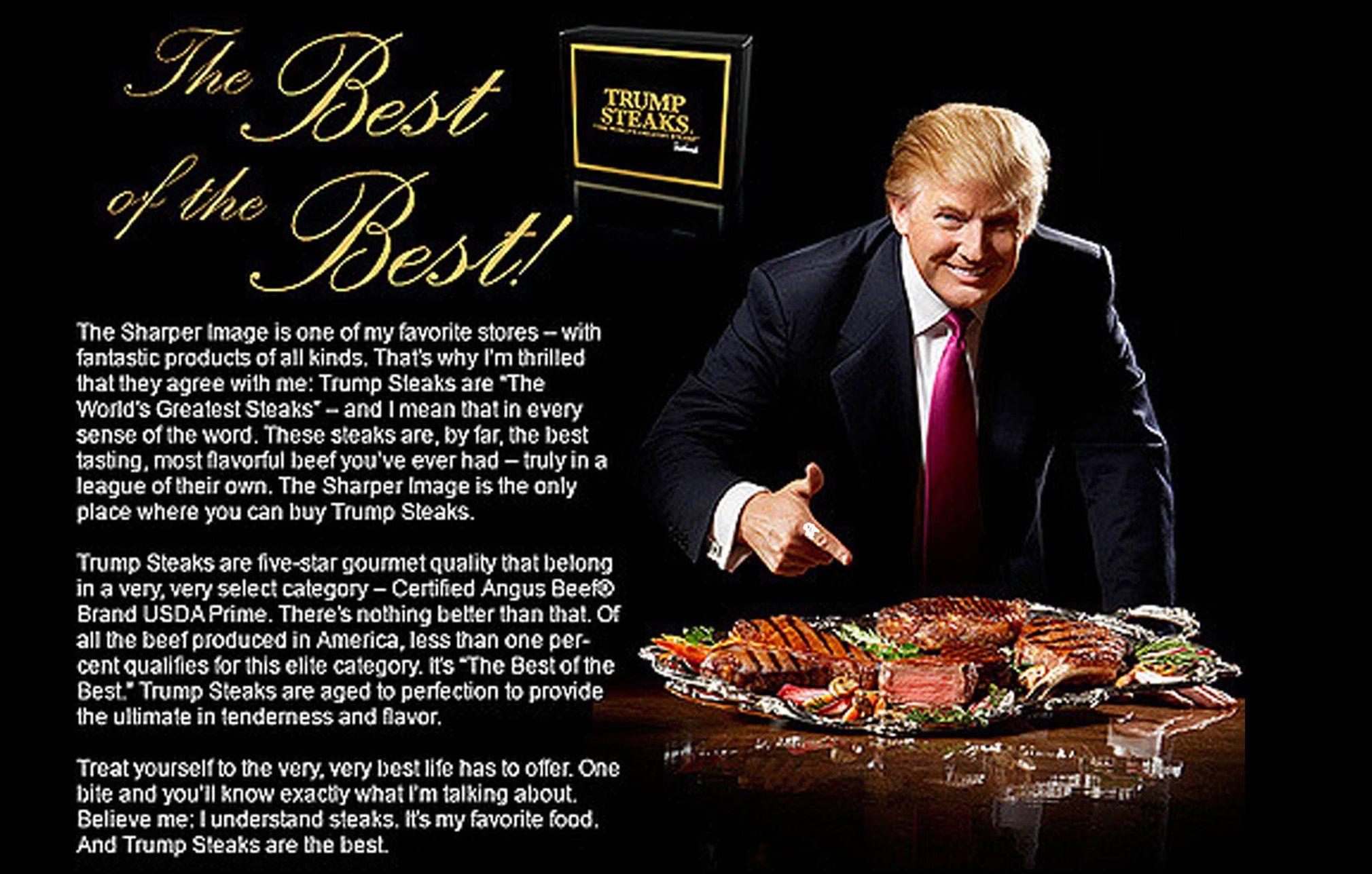 Trump Steaks ad