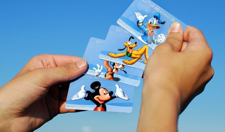 Various Disney World Admittance Cards