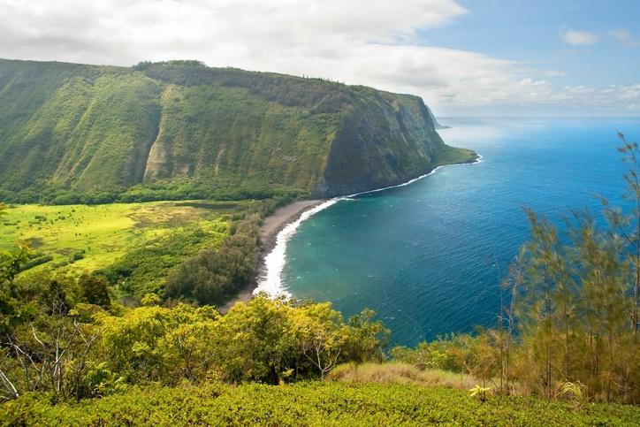 Waipio valley lookout on Hawaii Big Island