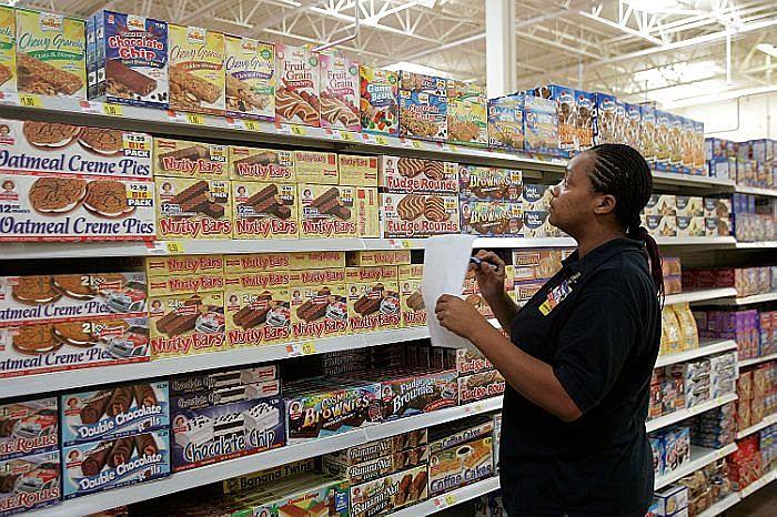 Walmart snack aisle