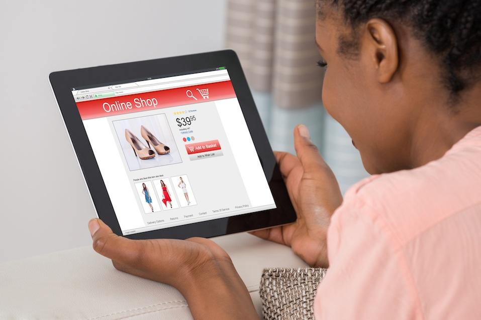 Woman Holding Digital Tablet