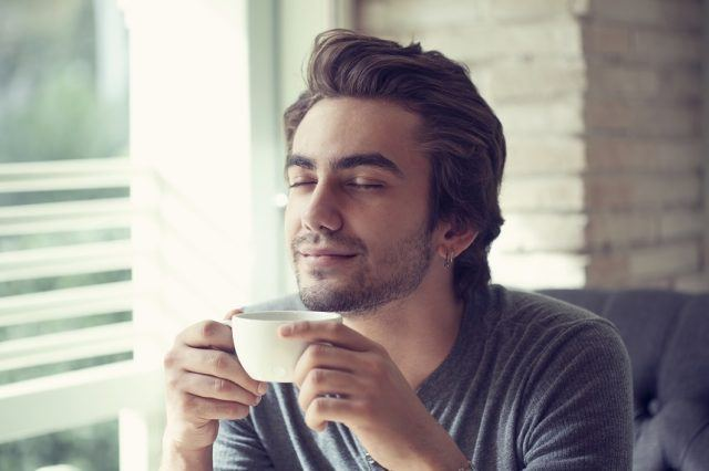 You may feel a calming effect when you drink green tea.