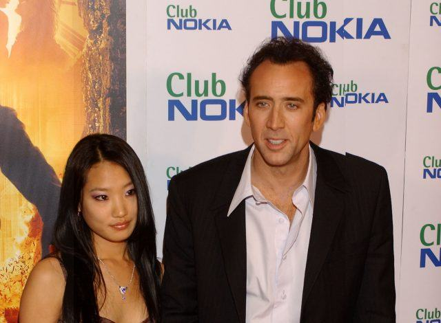Alice Kim and Nicolas Cage at the National Treasure premiere in Madrid, Spain.