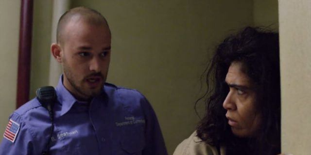 "scene with correctional officer in ""Orange is the New Black"""