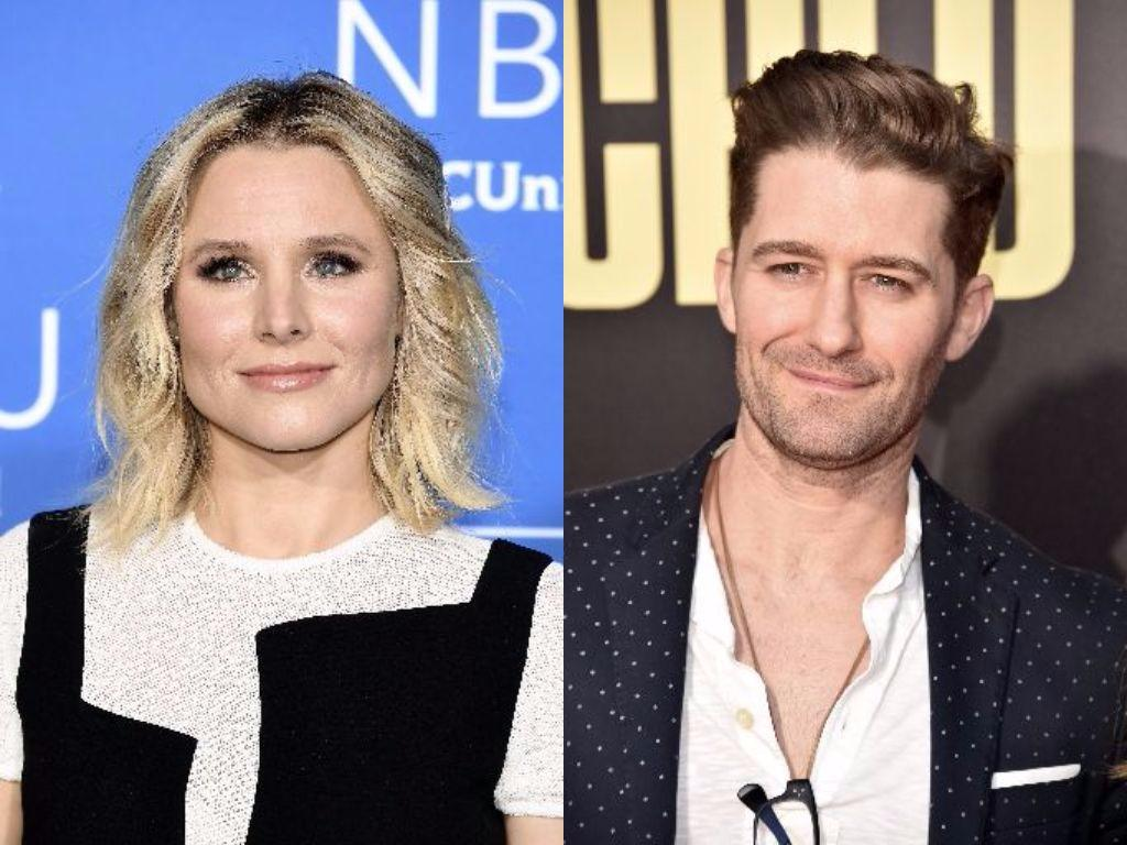 Kristen Bell and Matthew Morrison pose for cameras