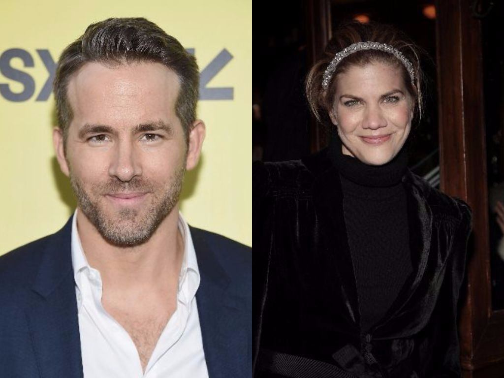 Ryan Reynolds and Kristen Johnson pose for cameras
