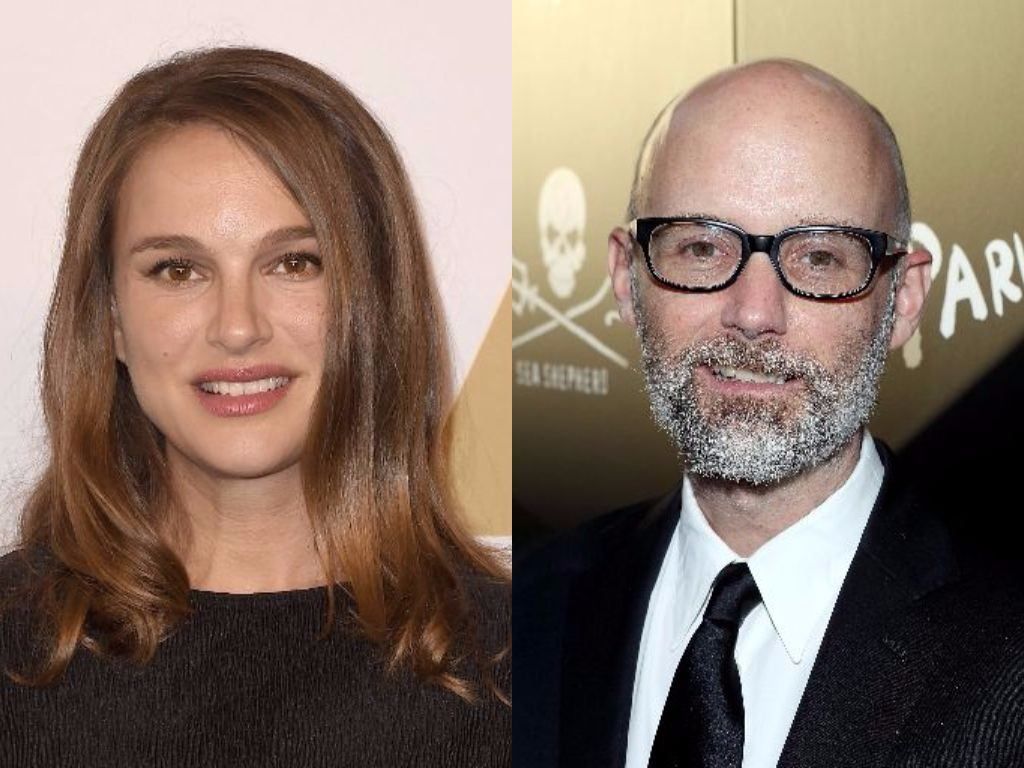 Natalie Portman and Moby smile for the camera