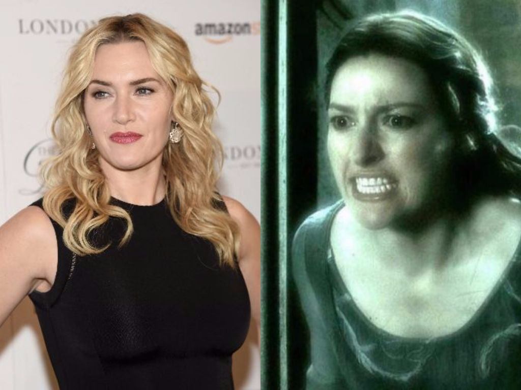 Kate Winslet poses for cameras and Kelly Macdonald's Helena Ravenclaw in Harry Potter