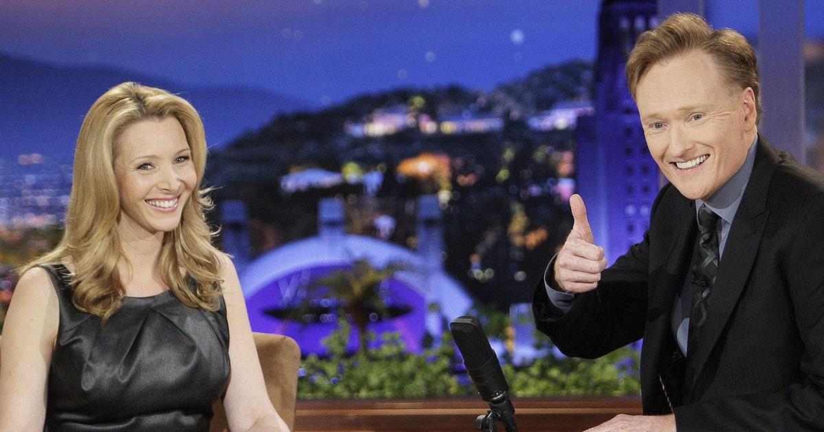 Lisa Kudrow and Conan O'Brien talk on Conan