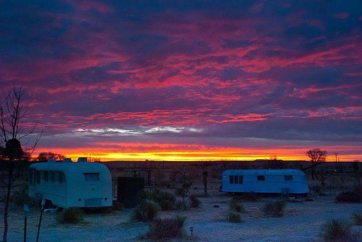 El Cosmico campground in Marfa, Texas