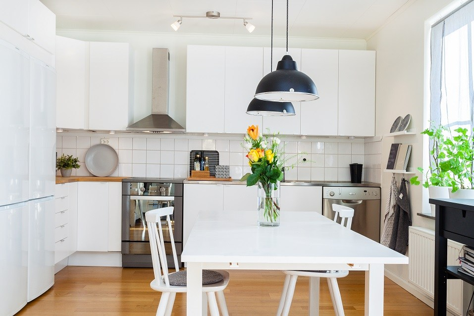 white kitchen with no clutter