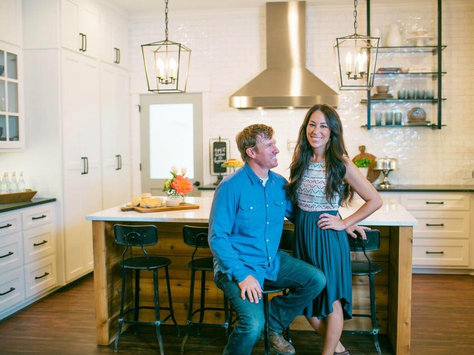 Chip and Joanna Gaines in kitchen