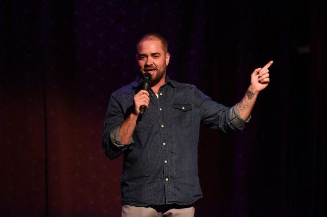 Comedian Ian Harvie performing at Premiere Of Seeso's Stand-Up Steaming Fest at The Slipper Room In NYC,