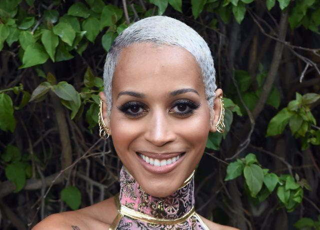 Model Isis King at the 28th Annual GLAAD Media Awards in LA.
