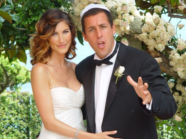 Jackie Titone and actor Adam Sandler at their wedding.