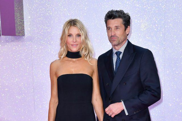Jillian Fink and actor Patrick Dempsey at the 'Bridget Jones' Baby' premiere in London.