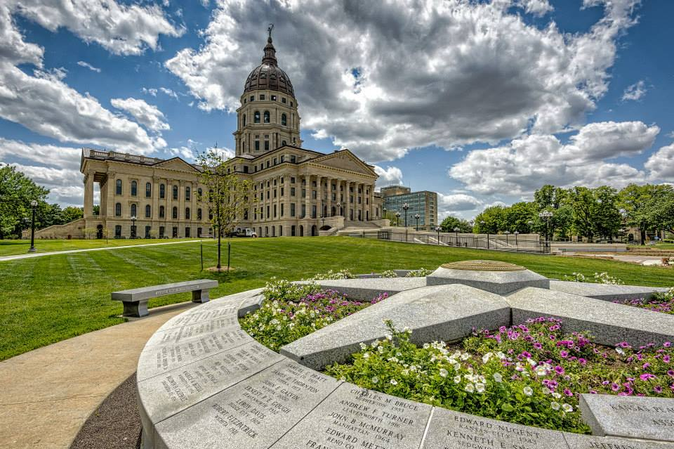 The Kansas Capitol building in Topeka