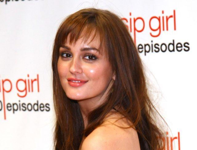 Leighton Meester on the red carpet for 'Gossip Girl' Celebrates 100 Episodes.
