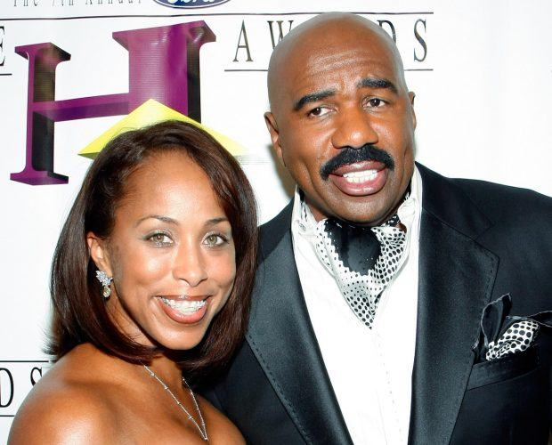 Steve Harvey and his wife Marjorie Bridges at the 7th Annual Hoodie Awards.