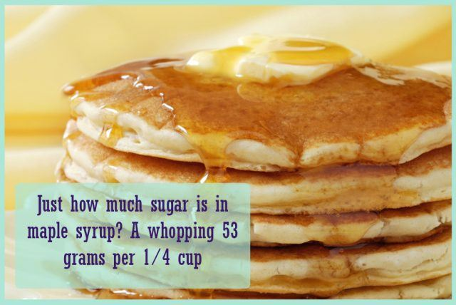 sugar-laden pancakes and syrup